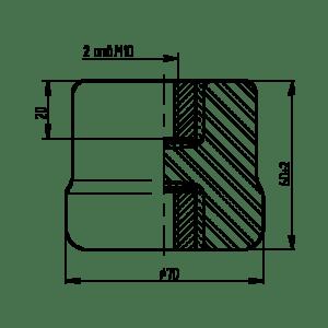 размері Изолятора ІО-1-2.5 УЗ