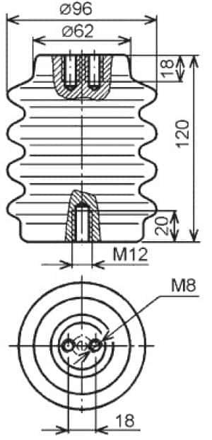 размеры изолятора ІОР-10-3.75 УХЛ2