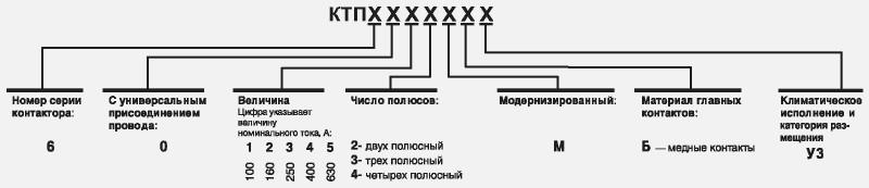 Контактора серии КТП6000