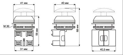 Выключатели кнопочные серии КЕ: габариты, конструкцию - электротехническая компания Электросервис