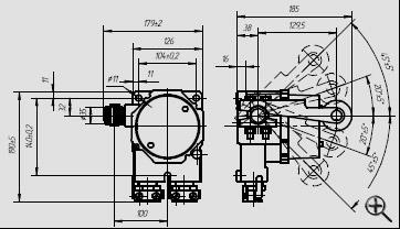 Электросервис,044-501-37-45,Выключатель путевой взрывозащищенный из алюминия cерии ВПВ-4М, 1ЕхdIIАТ6, 1ExdIICT6, PB ExdI