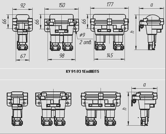 Посты взрывозащищенные кнопочные cерии КУ-90