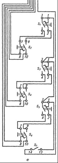 Электрическая принципиальная схема кнопочного поста типа ПКТ-60