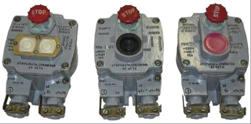 Посты взрывозащищенные кнопочные типа ПВК-1,2,3 , РВ ExdI, 1ExdIIВТ6.