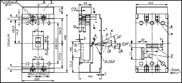 Выключатель автоматический А3794, А3796