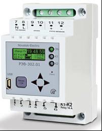 Многофункциональный программируемый годовой таймер с функциями реле напряжения и фотореле РЭВ-302