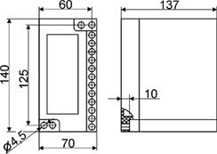Габаритные и установочные размеры.Реле времени ВЛ-103А